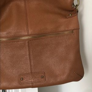 Lucky Brand brown leather cross body bag